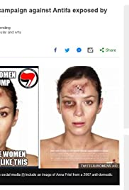 4chan Smear Campaign Against Antifa Poster