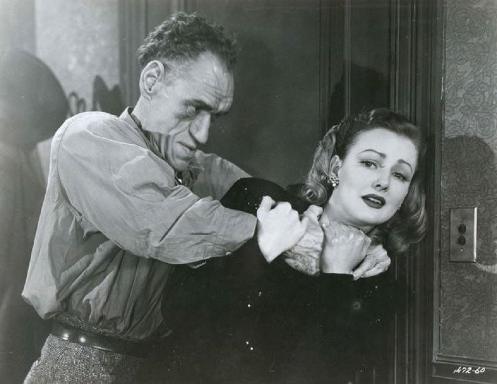 Virginia Grey and Rondo Hatton in House of Horrors (1946)