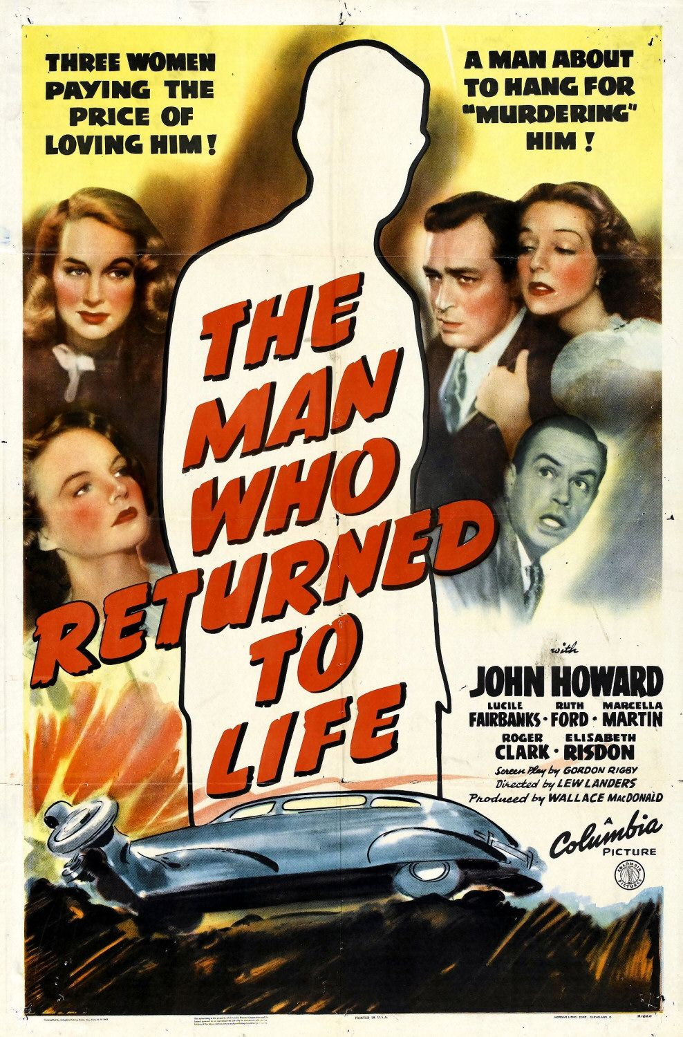 Paul Guilfoyle, Lucile Fairbanks, Ruth Ford, John Howard, and Marcella Martin in The Man Who Returned to Life (1942)