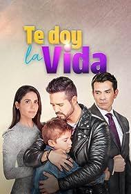 Jorge Salinas, José Ron, and Eva Cedeño in Te doy la vida (2020)