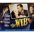 William Bendix, Vincent Price, Edmond O'Brien, and Ella Raines in The Web (1947)