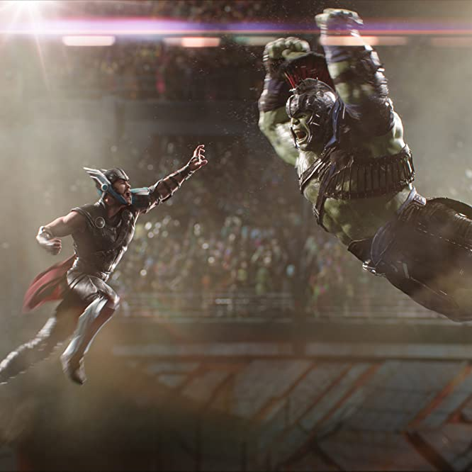Mark Ruffalo and Chris Hemsworth in Thor: Ragnarok (2017)