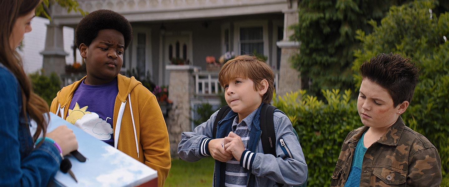 Molly Gordon, Brady Noon, Jacob Tremblay, and Keith L. Williams in Good Boys (2019)
