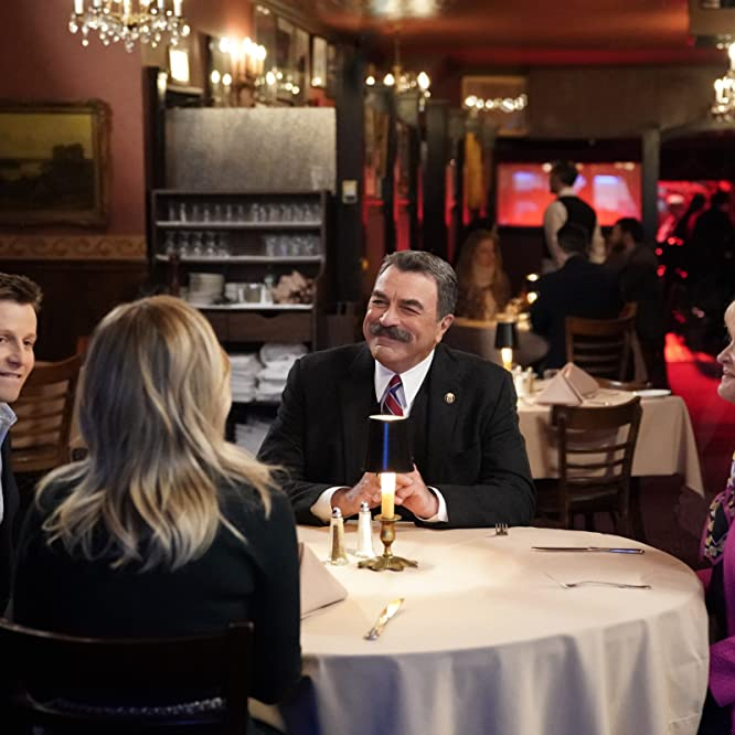 Tom Selleck, Christine Ebersole, Will Estes, and Vanessa Ray in Blue Bloods: Common Enemies (2019)