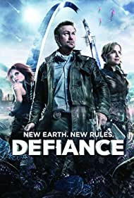 Julie Benz, Grant Bowler, and Stephanie Leonidas in Defiance (2013)