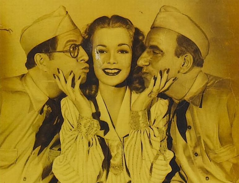 Jimmy Durante, Phil Silvers, and Jane Wyman in You're in the Army Now (1941)