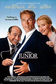 Arnold Schwarzenegger, Danny DeVito, and Emma Thompson in Junior (1994)