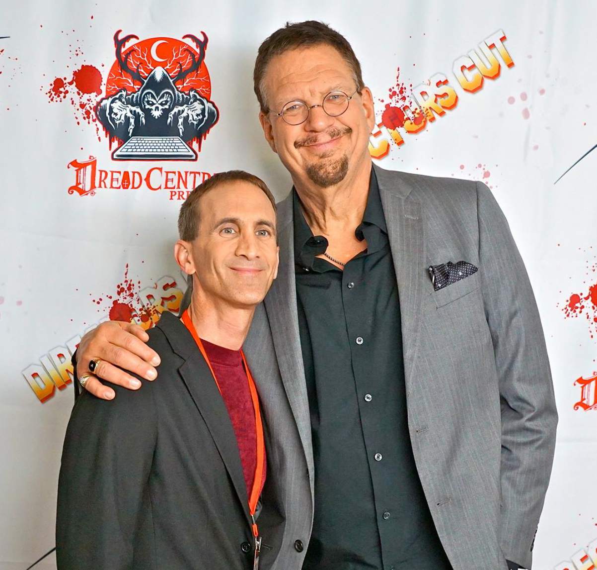 With Penn Jillette on the red carpet at the L.A. premiere of Director's Cut.