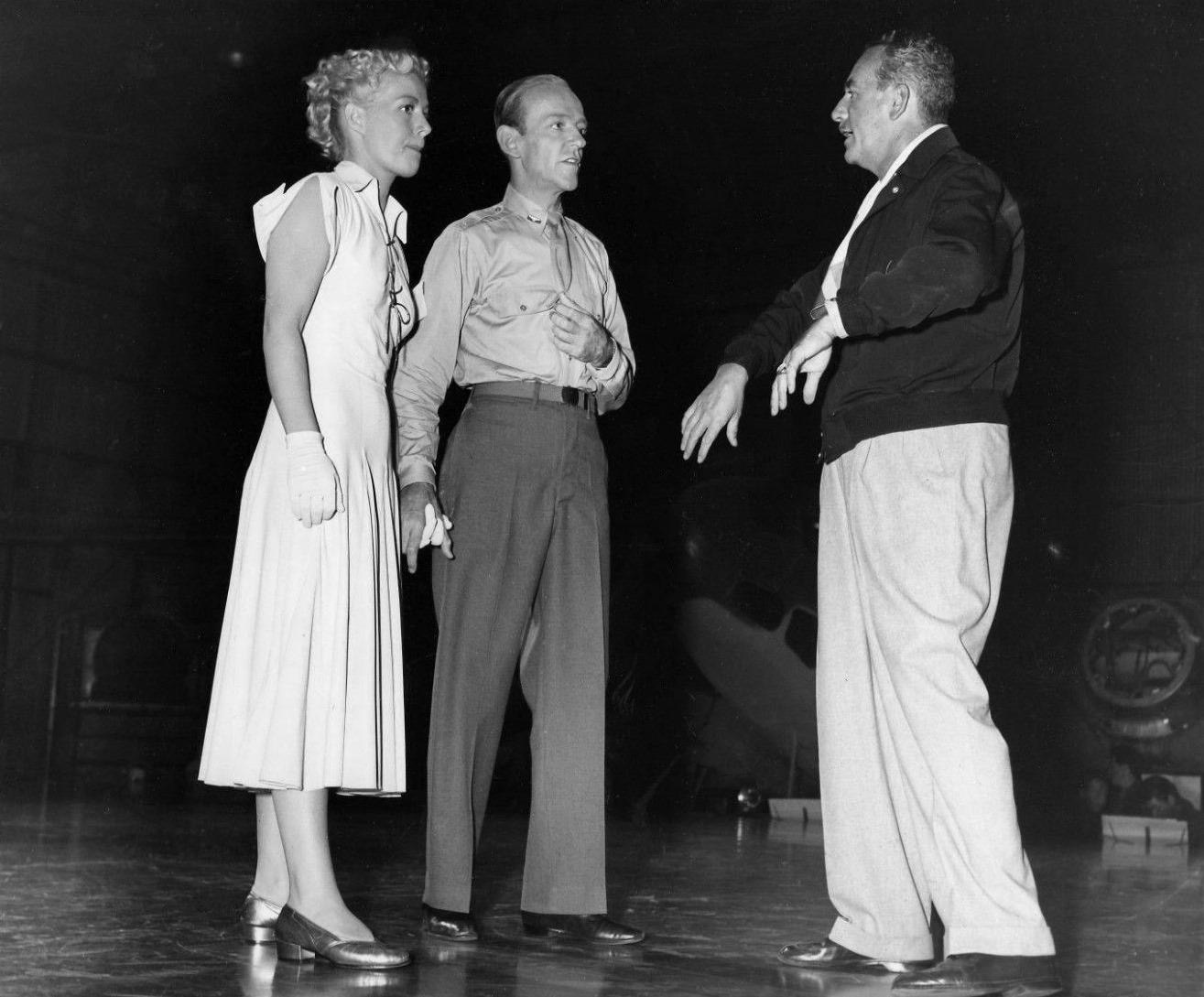Fred Astaire, Betty Hutton, and Norman Z. McLeod in Let's Dance (1950)