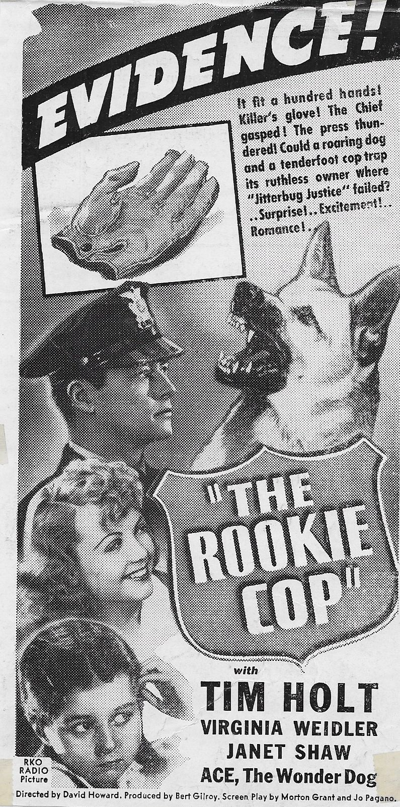 Tim Holt, Janet Shaw, Virginia Weidler, and Ace the Wonder Dog in The Rookie Cop (1939)