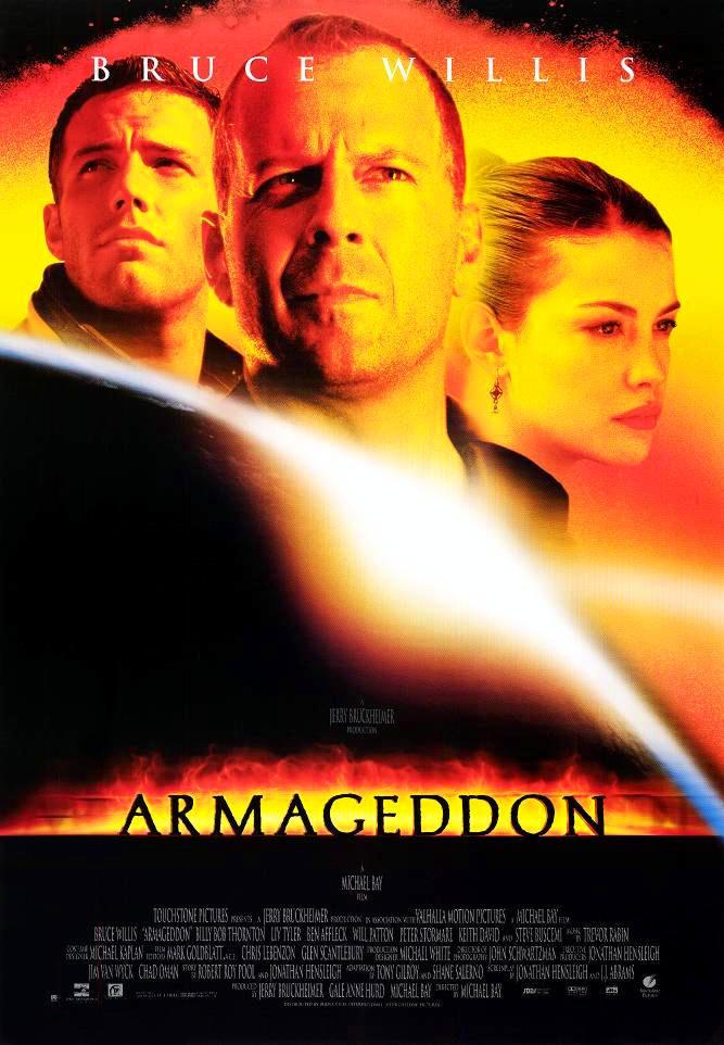Poster film Armageddon (1998) dibintangi Bruce Willis (via IMDb)