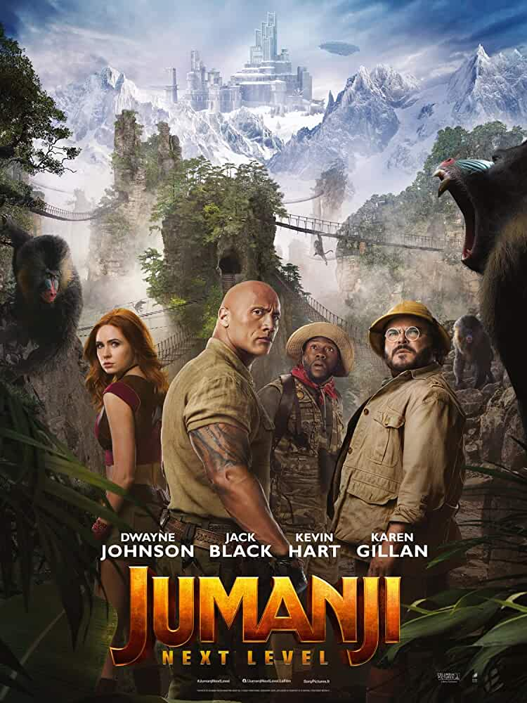 Jumanji: The Next Level (2019) English 720p HDCAM x264 900MB