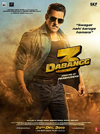 Poster of Dabangg 3 2019 Full Hindi Free Download Watch Online In HD Movie Download 1080p HDRip