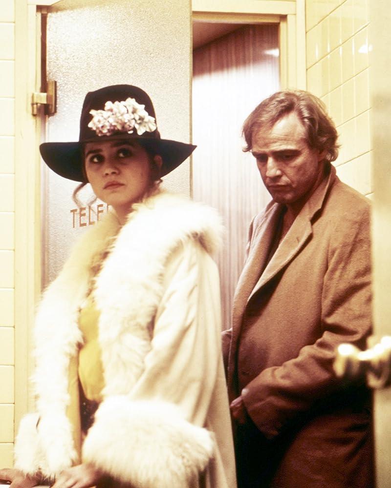 Marlon Brando and Maria Schneider in Ultimo tango a Parigi 1972