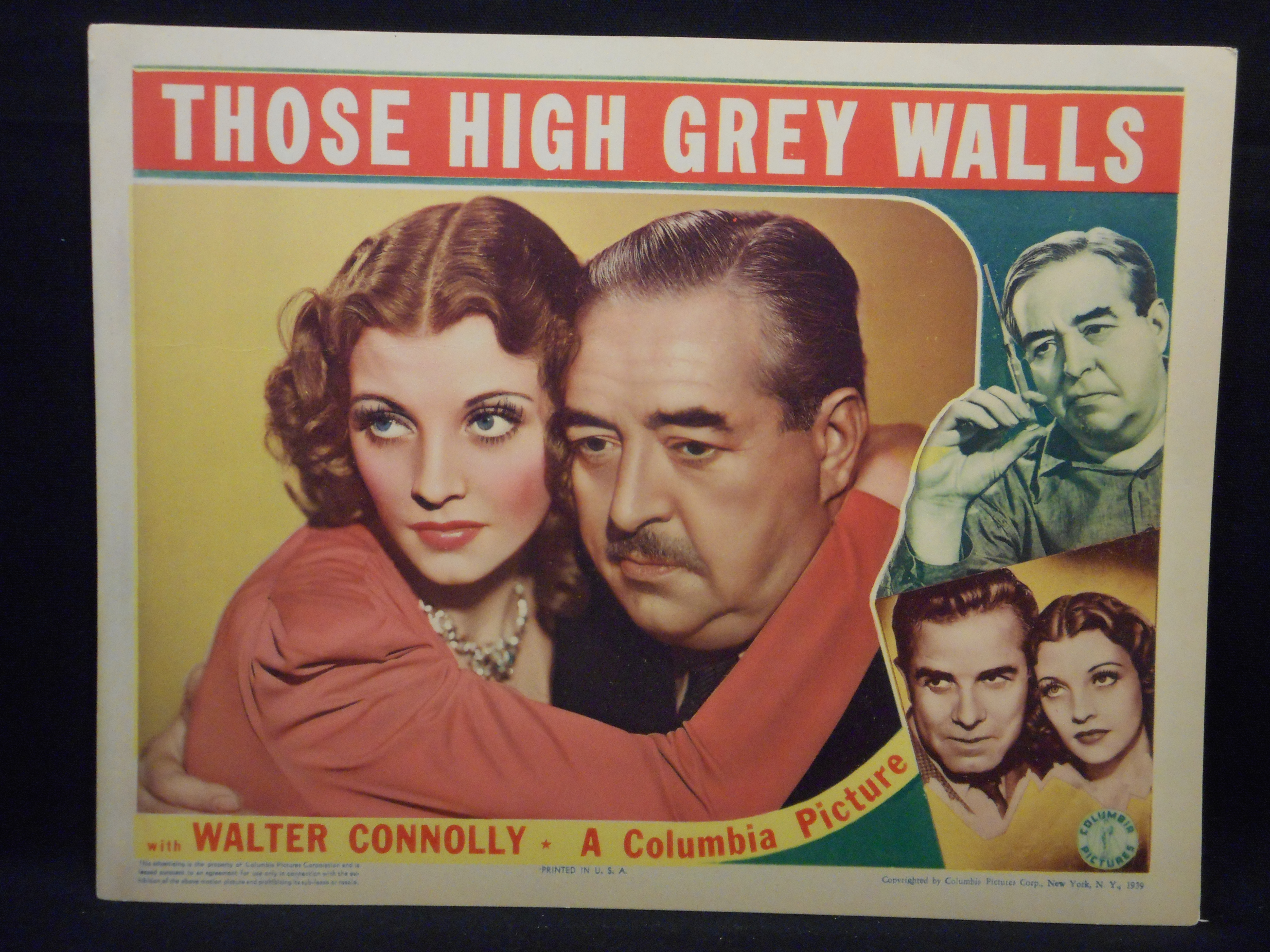 Walter Connolly and Iris Meredith in Those High Grey Walls (1939)