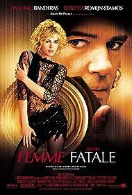 Antonio Banderas and Rebecca Romijn in Femme Fatale (2002)