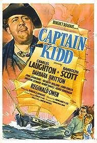 Randolph Scott, Charles Laughton, and Barbara Britton in Captain Kidd (1945)