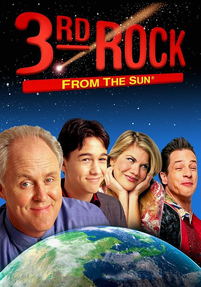 John Lithgow, Kristen Johnston, Joseph Gordon-Levitt, and French Stewart in 3rd Rock from the Sun (1996)