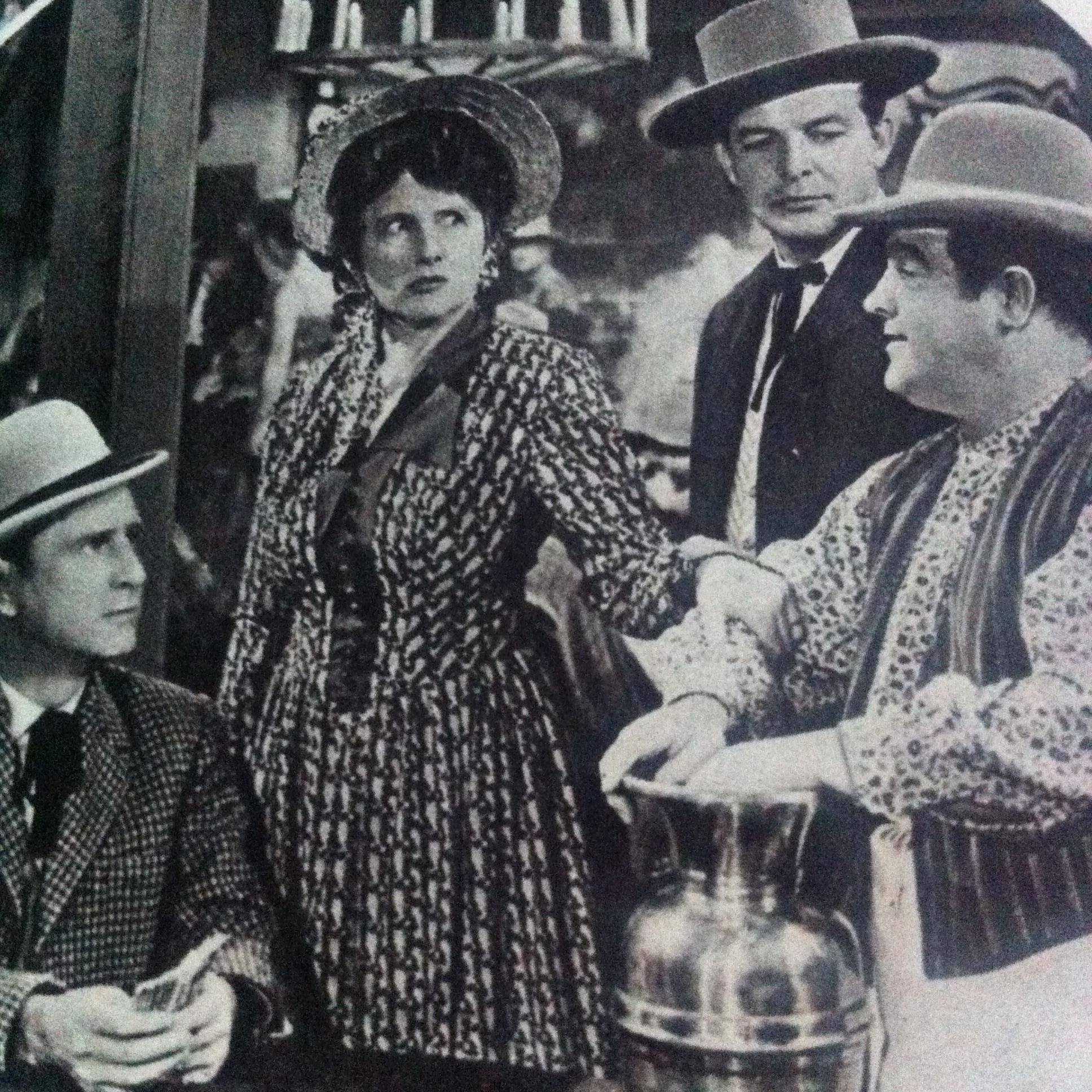 Bud Abbott, Lou Costello, Gordon Jones, and Marjorie Main in The Wistful Widow of Wagon Gap (1947)