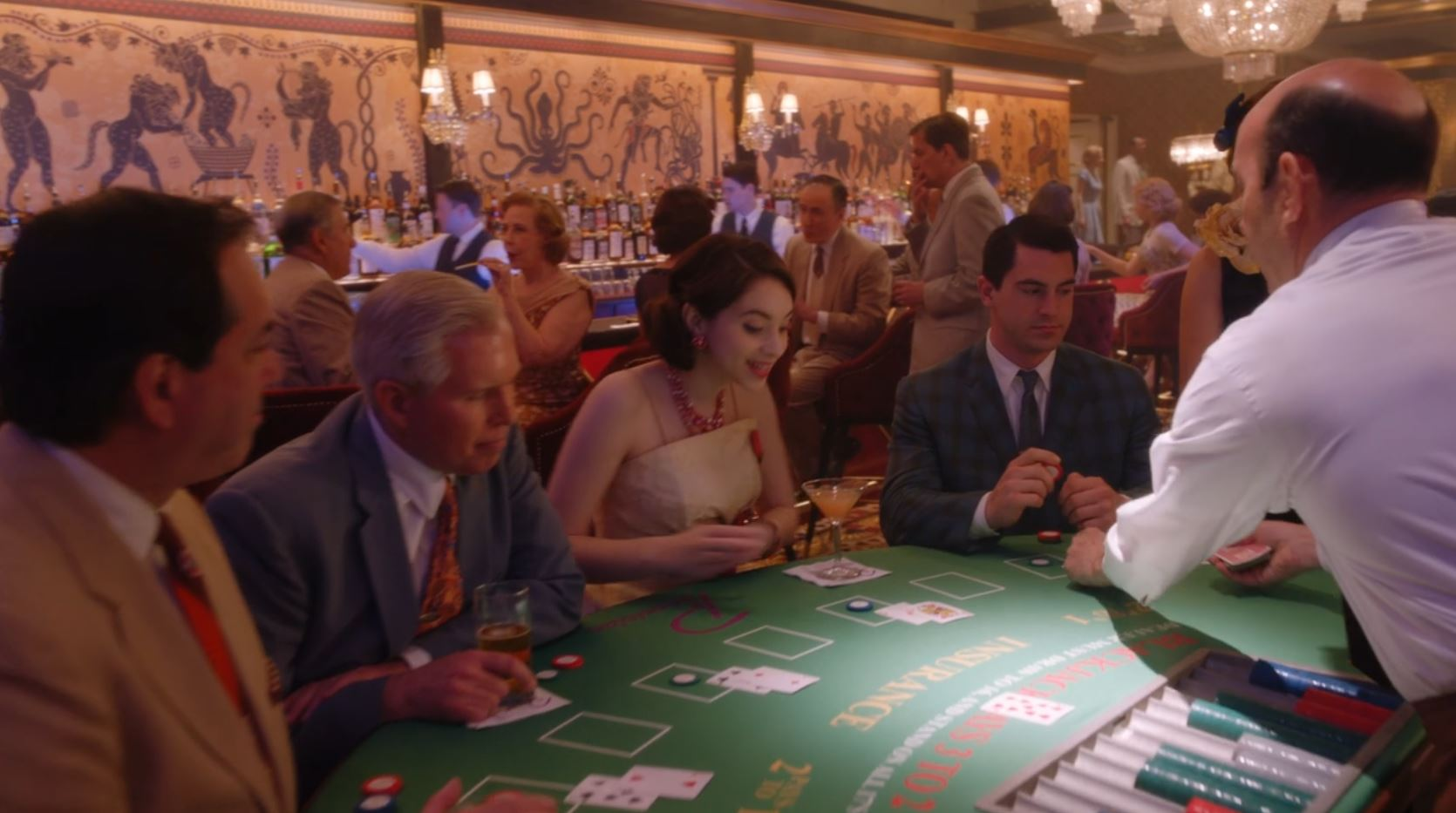 """Brianna Ward as a Casino Patron in """"The Marvelous Mrs. Maisel"""", Season 3, Episode 3"""