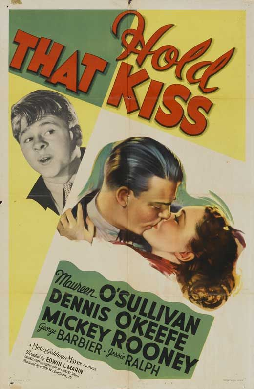 Maureen O'Sullivan, Mickey Rooney, and Dennis O'Keefe in Hold That Kiss (1938)