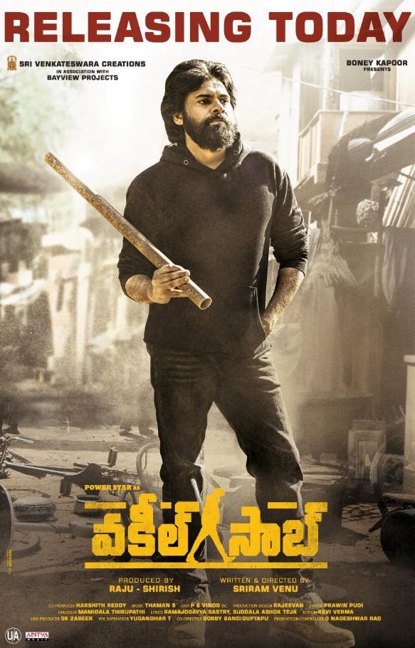 VAKEEL SAAB (2021) Telugu Movie 480p HDRip x264 ESubs 400MB Download