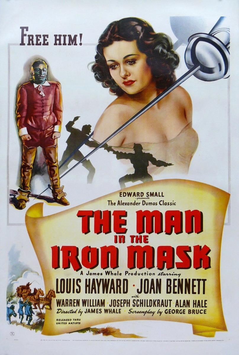 Joan Bennett and Louis Hayward in The Man in the Iron Mask (1939)