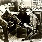 George Peppard, Ben Gazzara, and Arthur Storch in The Strange One (1957)