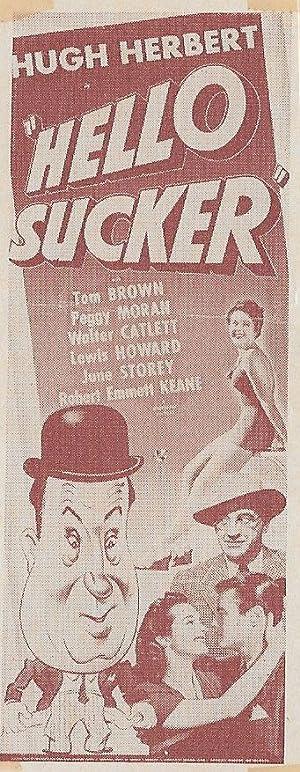 Edward F. Cline Hello, Sucker Movie