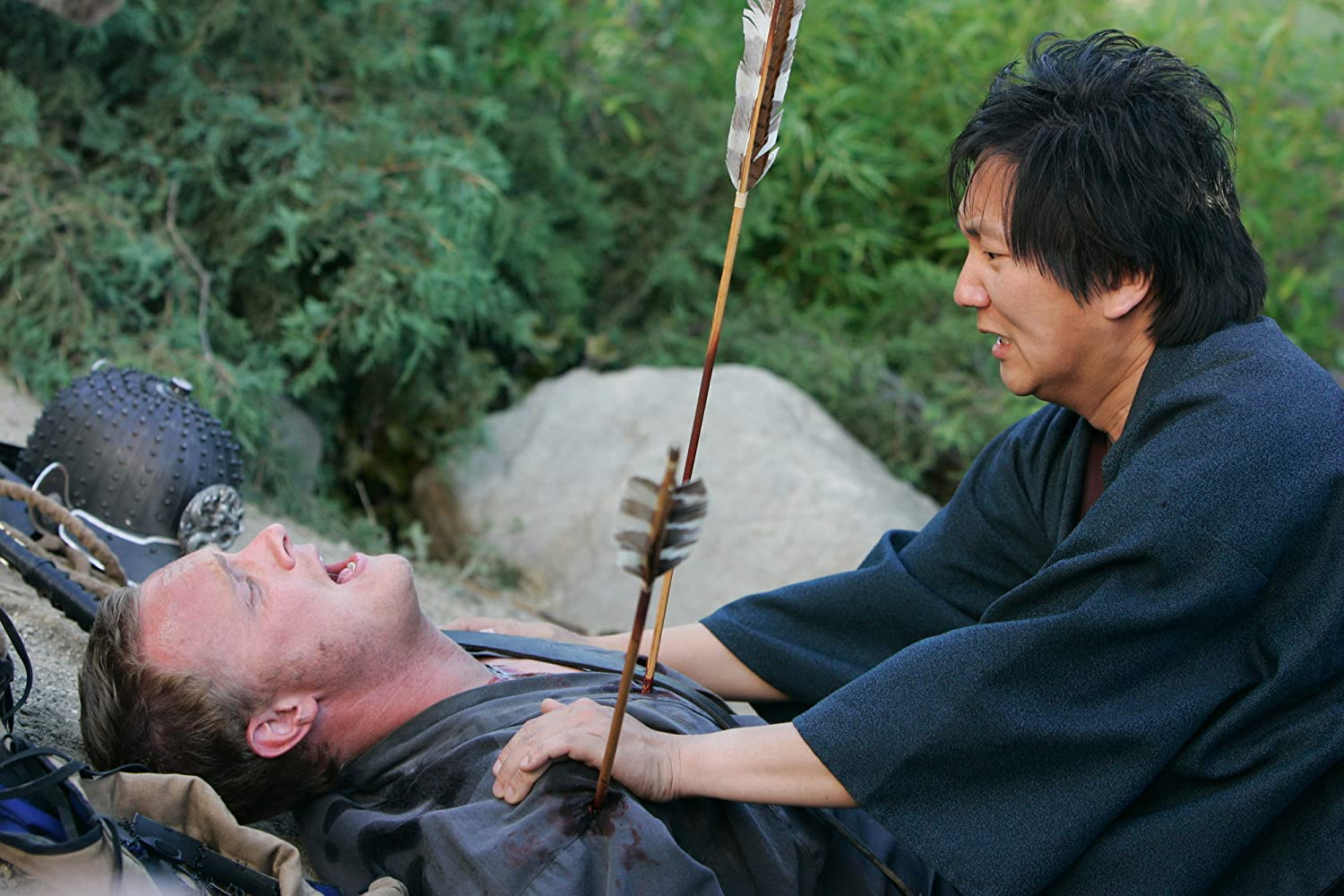 David Anders and Masi Oka in Heroes (2006)
