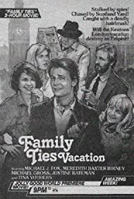 Michael J. Fox, Justine Bateman, Meredith Baxter, Tina Yothers, and Michael Gross in Family Ties Vacation (1985)