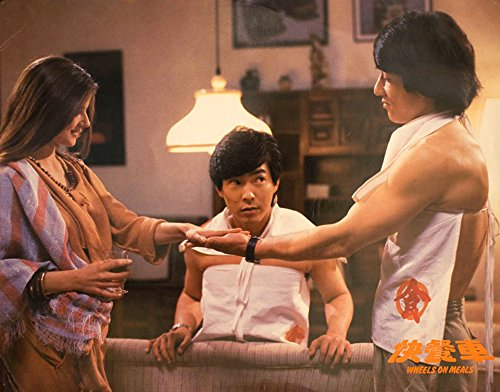 Jackie Chan, Lola Forner, and Biao Yuen in Kuai can che (1984)