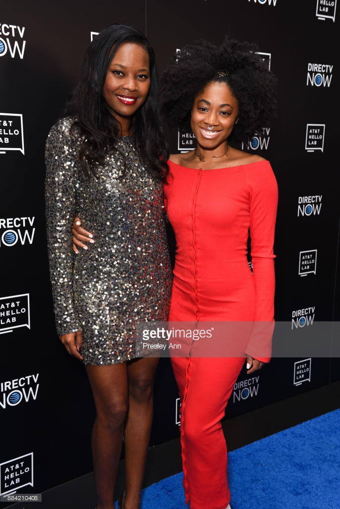 """""""Candid"""" Director Gabby Shepard and actress India McGee at AT&T Hello Lab Film Premier"""