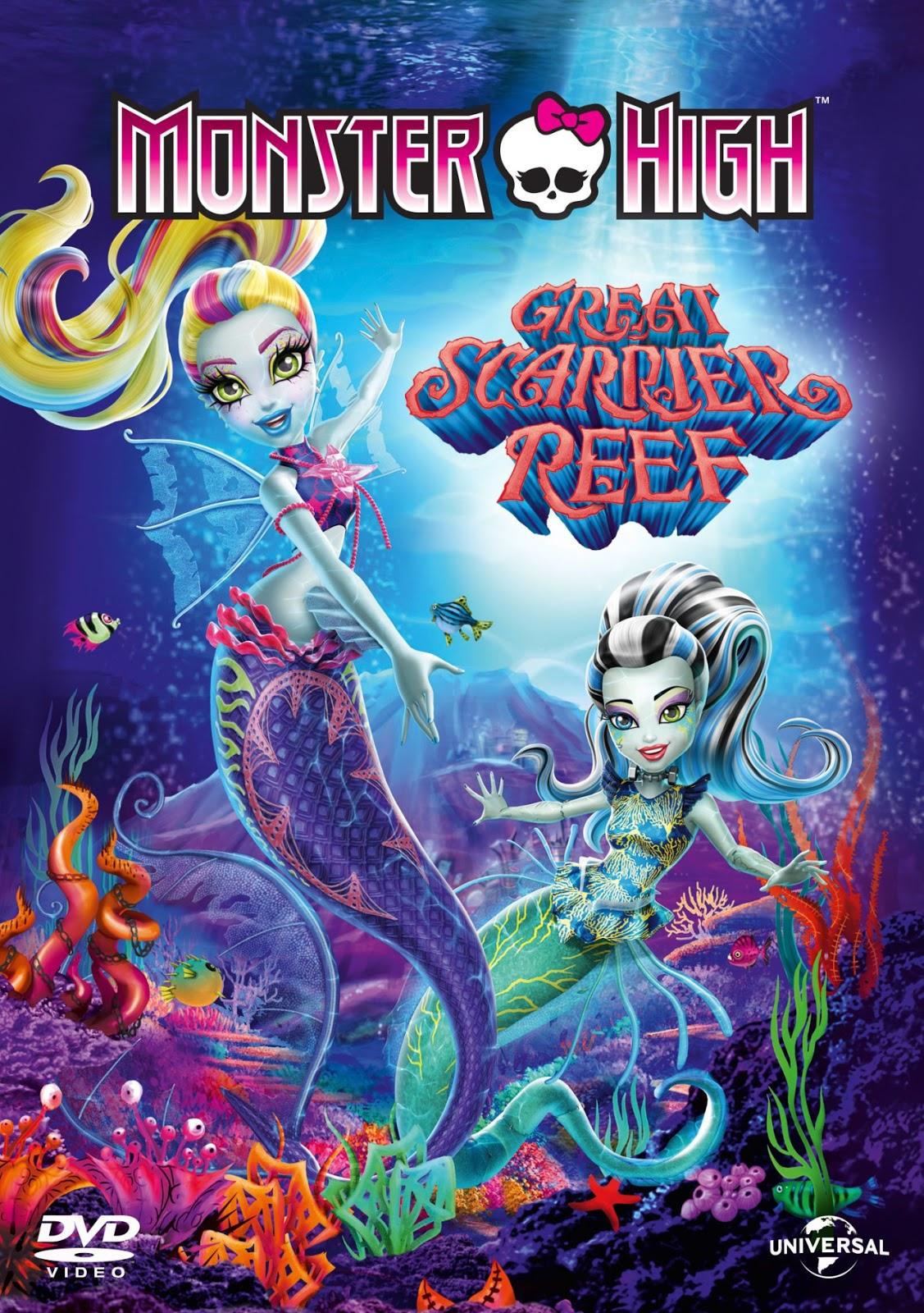 monster high skræk i koralrevet dukker