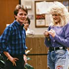 Michael J. Fox and Tina Yothers in Family Ties (1982)