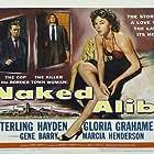 Sterling Hayden, Gloria Grahame, and Gene Barry in Naked Alibi (1954)