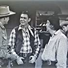 Smiley Burnette, Don C. Harvey, Boyd 'Red' Morgan, Chuck Roberson, and Charles Starrett in Trail of the Rustlers (1950)