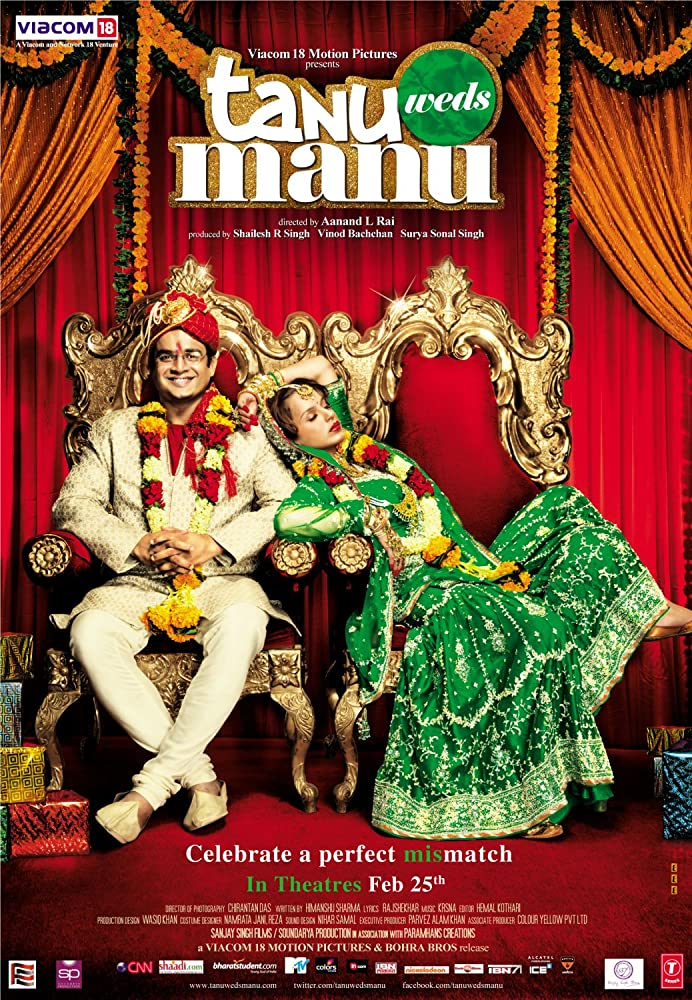 Tanu Weds Manu 2011 Hindi Movie 720p BluRay 800MB ESubs Download