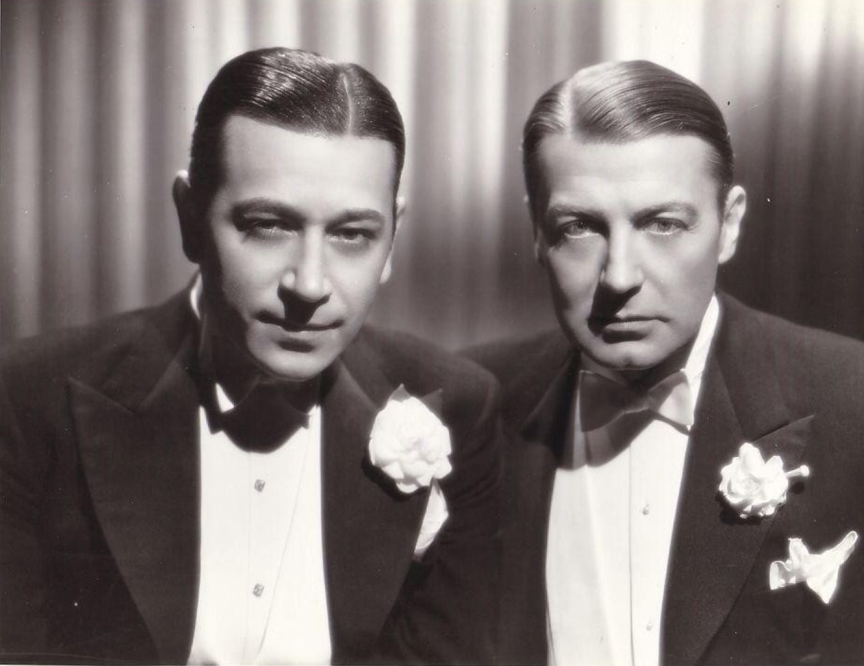 Clive Brook and George Raft in Midnight Club (1933)