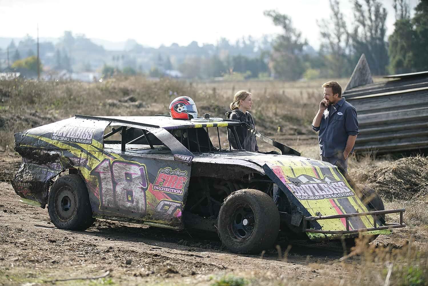 Sean Patrick Flanery and Grace Van Dien in Lady Driver (2020)