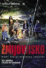 Cezary Pazura, Pawel Domagala, Piotr Stramowski, Davina Reeves, Agnieszka Zulewska, and Hanna Koczewska in Zmijowisko (2019)