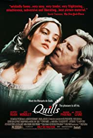 Kate Winslet and Geoffrey Rush in Quills (2000)