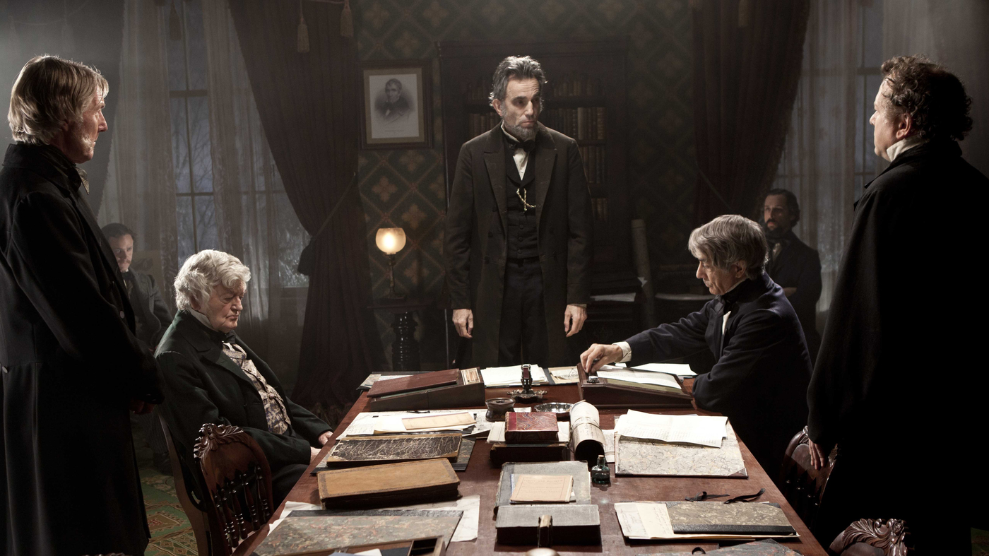 Daniel Day-Lewis, David Strathairn, and Hal Holbrook in Lincoln (2012)