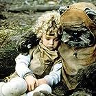 Warwick Davis and Aubree Miller in Ewoks: The Battle for Endor (1985)