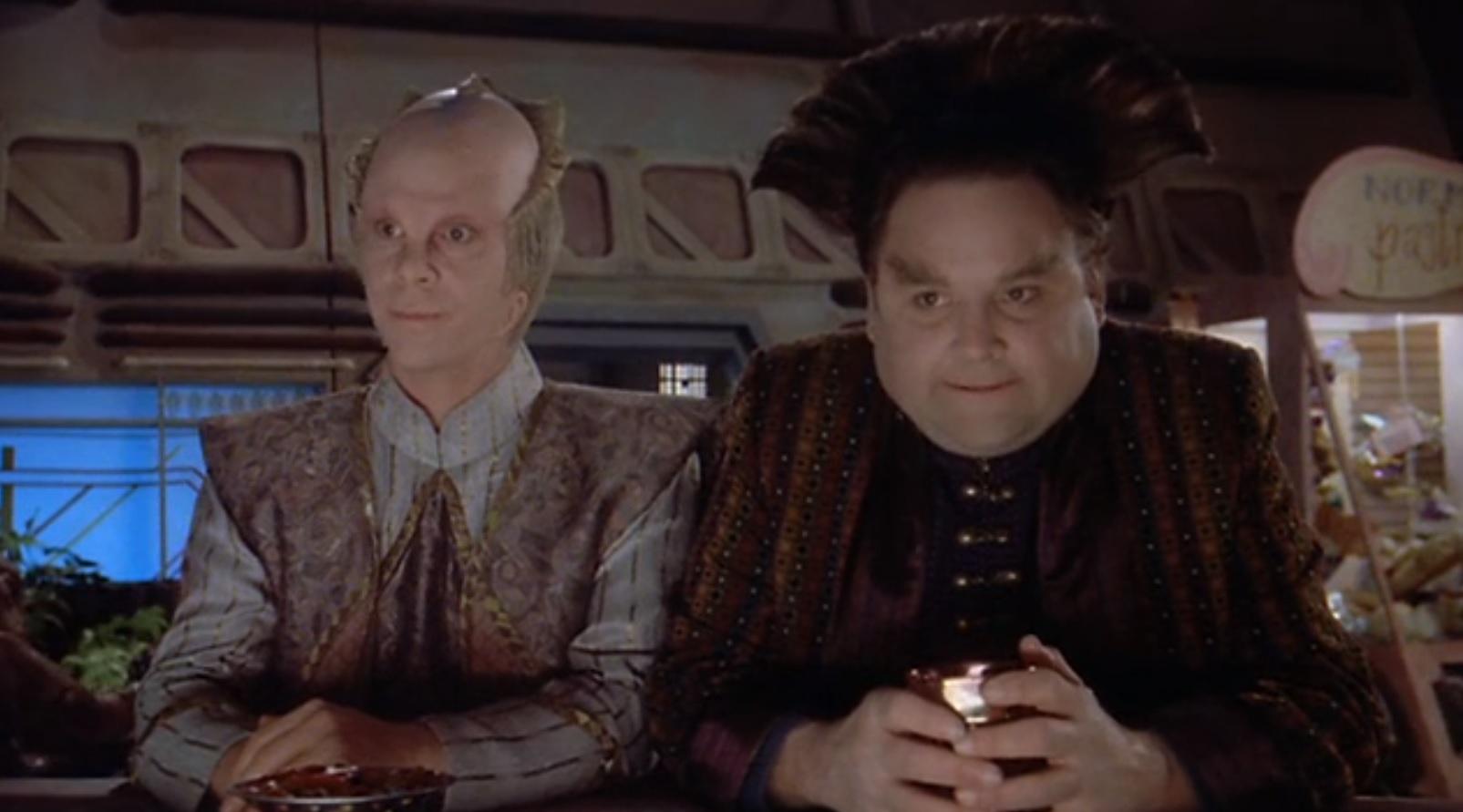 Stephen Furst and Bill Mumy in Babylon 5 (1993)