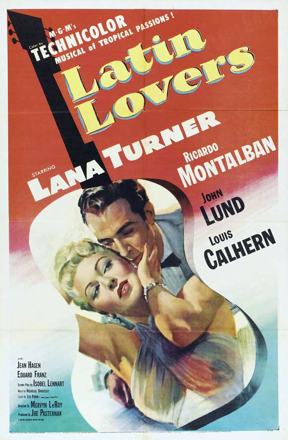 Ricardo Montalban and Lana Turner in Latin Lovers (1953)