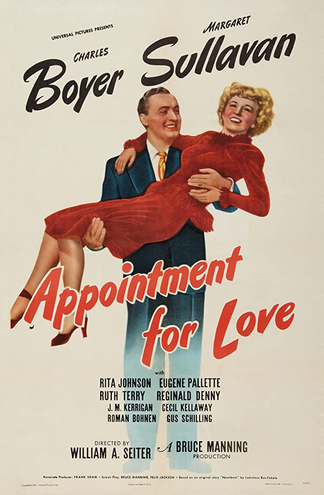 Charles Boyer and Margaret Sullavan in Appointment for Love (1941)