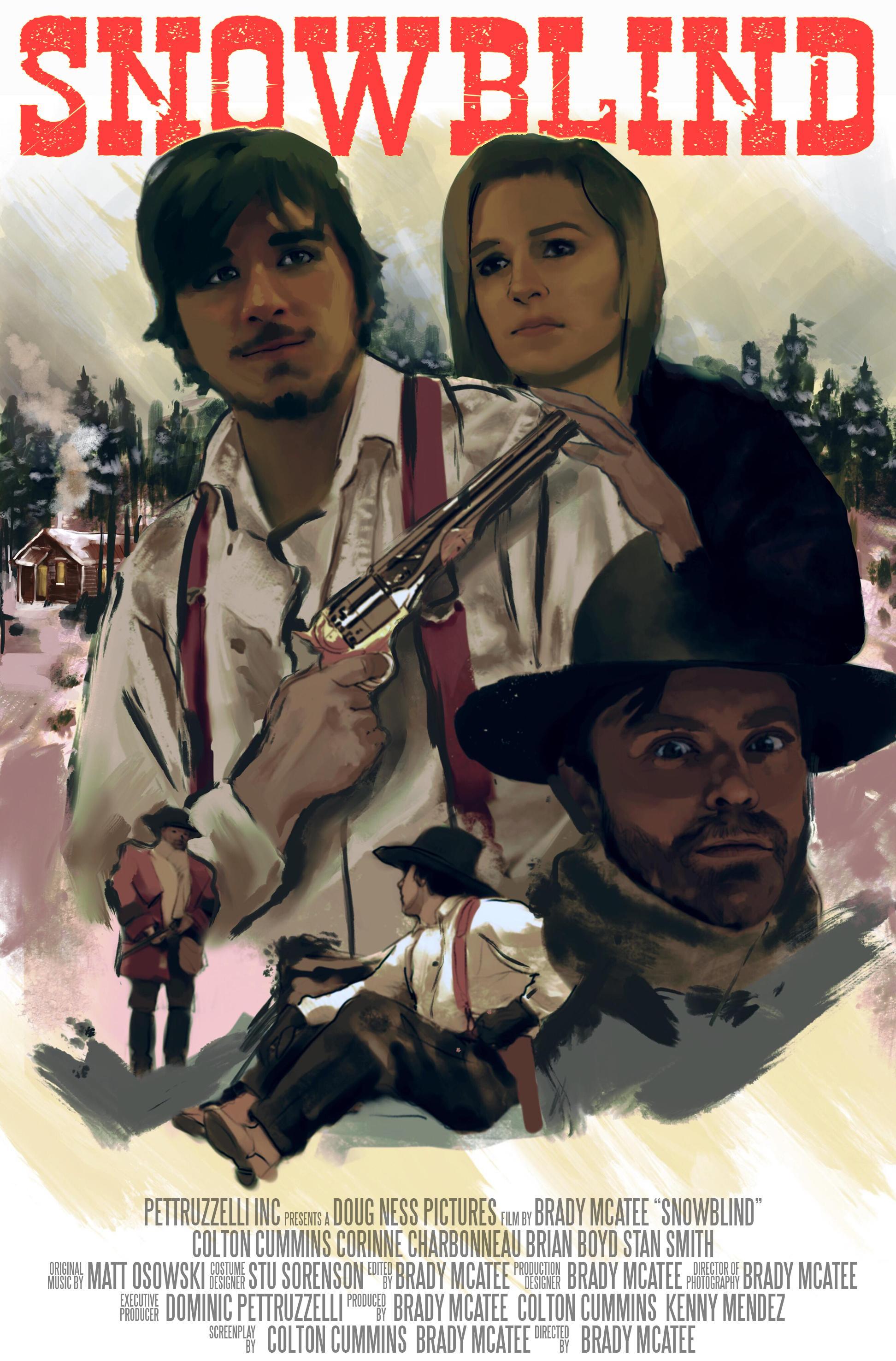 Colton Cummins, Corinne Charbonneau, and Brian Boyd in Snowblind (2018)