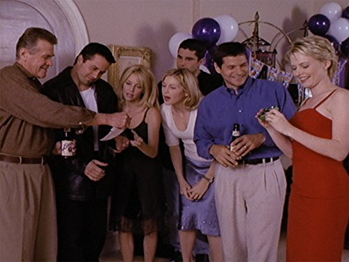 Heather Locklear, Rob Estes, Kelly Rutherford, Josie Bissett, Thomas Calabro, John Newton, and John Reilly in Melrose Place (1992)