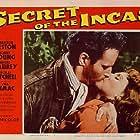 Charlton Heston and Nicole Maurey in Secret of the Incas (1954)